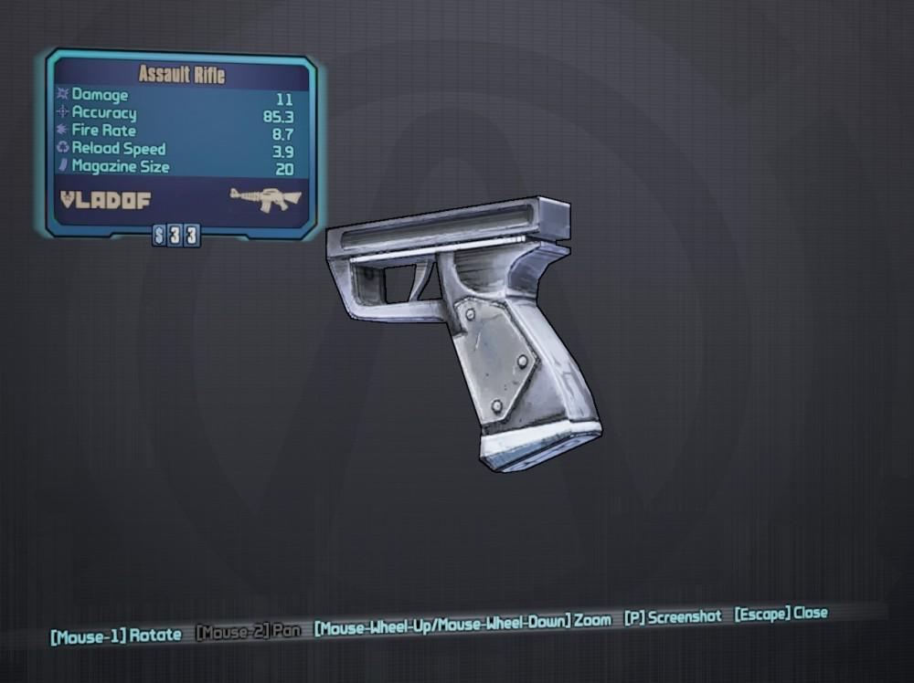 Borderlands 2 | Weapon Parts – Assault Rifle Grips | The